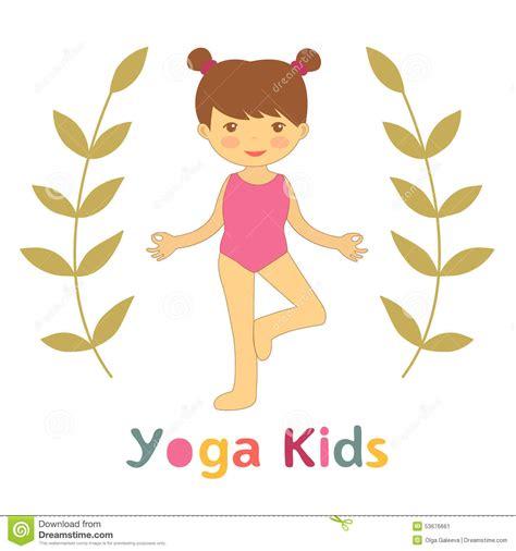imagenes yoga niños la yoga linda embroma la tarjeta con la ni 241 a que hace yoga