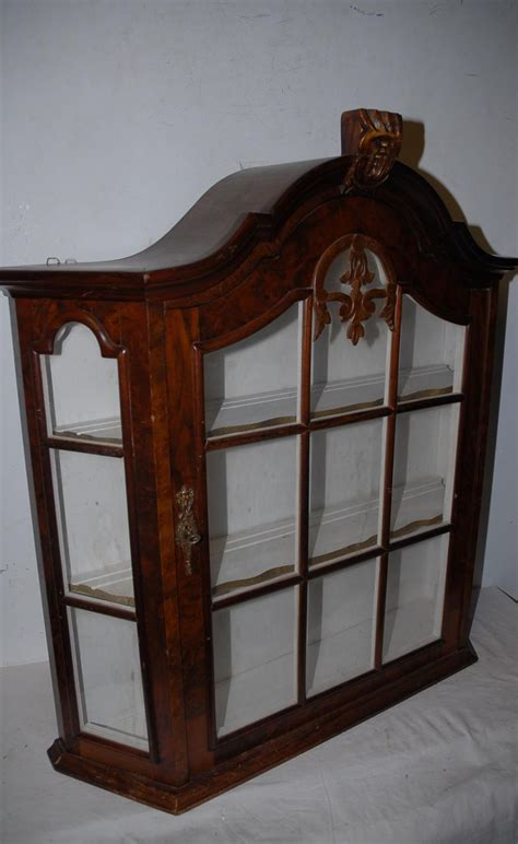 Vintage Quality Wooden Glass Display Vitrine Wall Vintage Glass Door Cabinet
