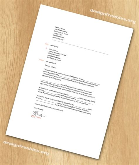 Template Indesign Letter | free indesign templates simple and clean resume cv with