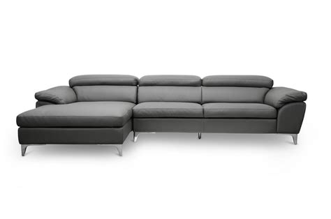 baxton studio voight gray modern sectional sofa