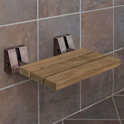 folding teak shower bench wall mount teak folding shower seat bathroom