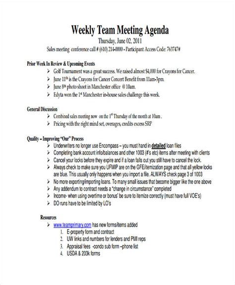 sales team meeting agenda template 46 meeting agenda templates free premium templates