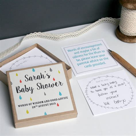 Baby Shower In A Box Ideas by Personalised Baby Shower Message Box By Modo Creative