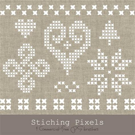 embroidery pattern for photoshop stitch photoshop brushes psddude
