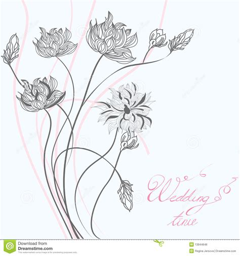 template for wedding greeting card stock vector