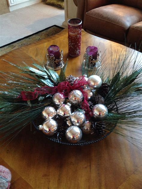 christmas coffee table decorations christmas pinterest