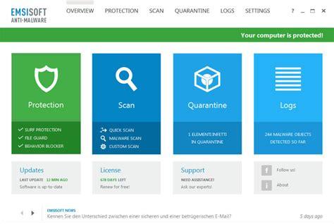 best antivirus and malware emsisoft anti malware 10 license key