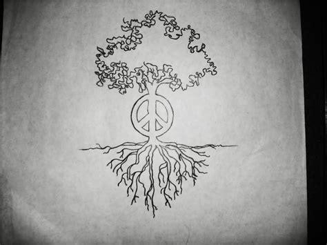 hippy tattoo designs 33 unique hippie tree tattoos
