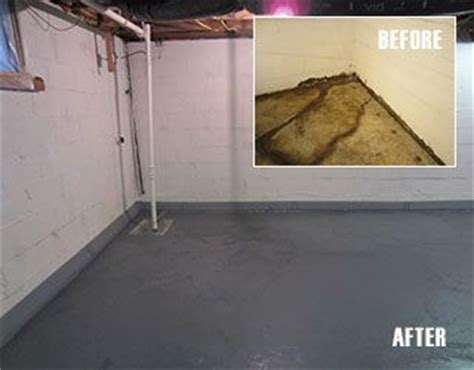 before and after project diy basement waterproofing with