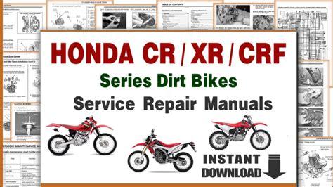 Download Honda Crf Xr Cr Series Dirt Bikes Service