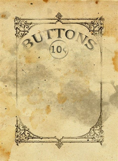 button card template free vintage button card printable