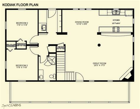 cabin blueprints floor plans kodiak loft spirit cabins modular log homes