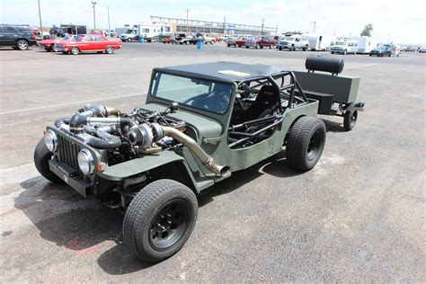 Hotrod Jeep Turbo Jeep Rat Rod Deathtrap At Drag Weekend West