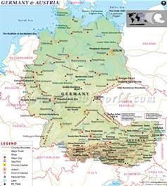 Germany Austria Map by Germany Austria Map Beautiful Scenery Photography