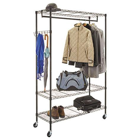 Alera Wire Shelving Garment Rack by Alera Alegr364818bl 48 Quot X 18 Quot X 75 Quot Black Wire Shelving