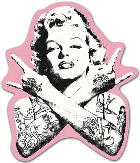 sticker marilyn monroe punk tattooed muraldecal com