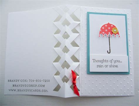 brandys cards braided card template stin up or shine braided card technique
