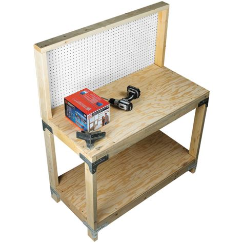 simpson strong tie bench kit simpson strong tie workbench shelving hardware kit by