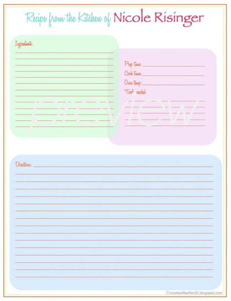 free recipe binder templates a living sacrifice some friday recipe binder printable