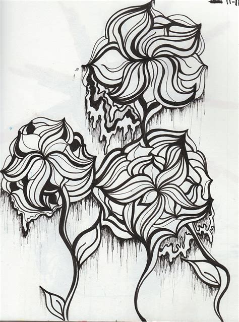 trippy elephant coloring pages trippy flowers drawing by abby keller