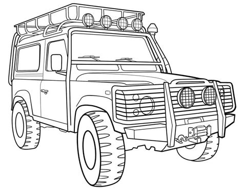 4x4 Sketches by Coloriage Voiture 4x4 Imprimer