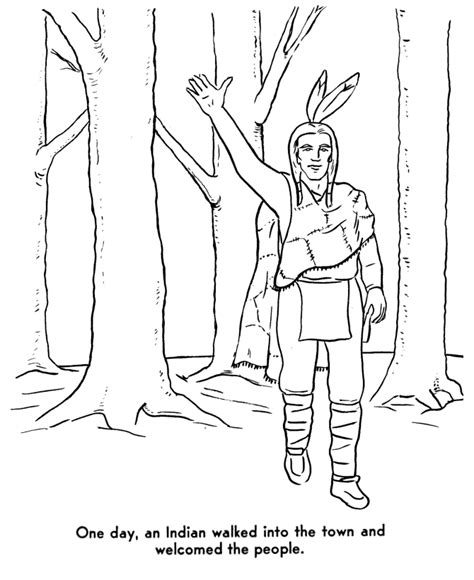Family Pilgrim And Squanto Coloring Pages Coloring Pages Squanto Coloring Pages