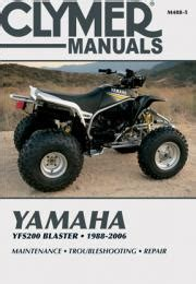 Yamaha Atv Service And Repair Manuals From Clymer