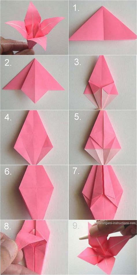 How To Make Paper Lilies - diy paper origami vintage wedding corsages