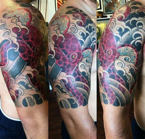 japanese octopus tattoo 50 octopus sleeve designs for manly ink ideas