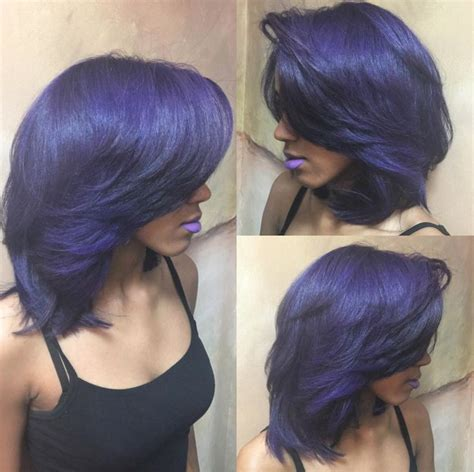 hairstyles for relaxed hair with extensions beautiful purple via salonchristol https community