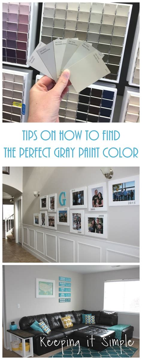 tips on how to find the perfect gray paint color from sherwin williams keeping it simple crafts