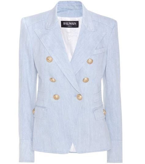 Blezer Denim balmain denim blazer mytheresa