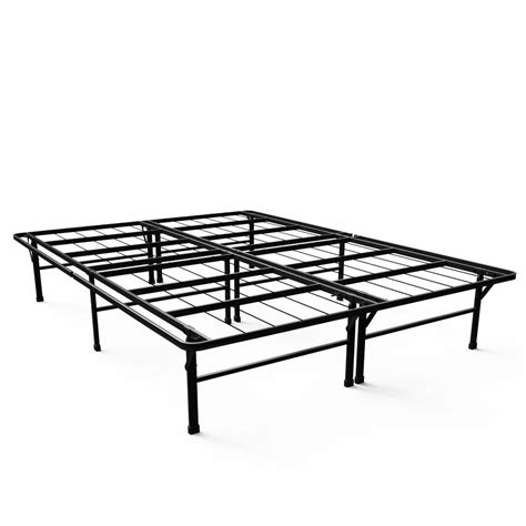 Smartbase Steel Bed Frame Zinus Deluxe Smartbase Xl Metal Bed Frame Hd Asb Txl The Home Depot