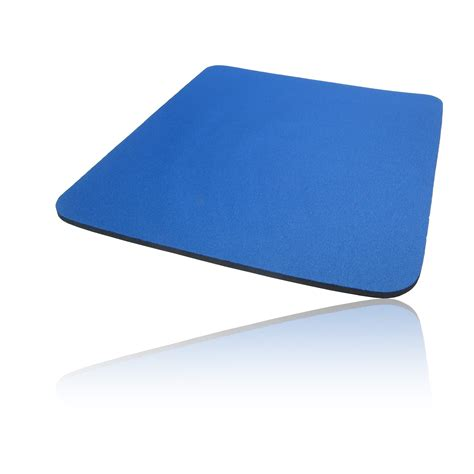foam cloth covered pc computer mice mouse mat pad blue