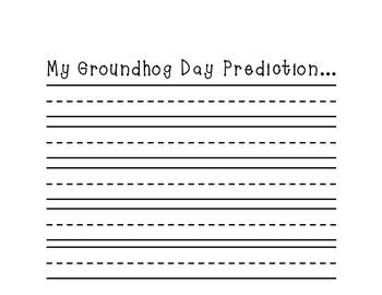 Groundhog Day Essay by Groundhog Day Writing By Maggielamb Teachers Pay Teachers