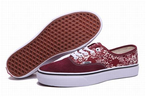 taiwan slippers vans authentic floral flowers wine womens shoes