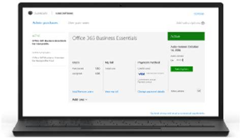 Office 365 Billing Portal Billing In Office 365 For Business Admin Help Office 365