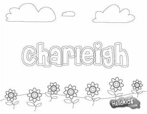 Coloring Pages Of Your Name Coloring Home Color Your Name