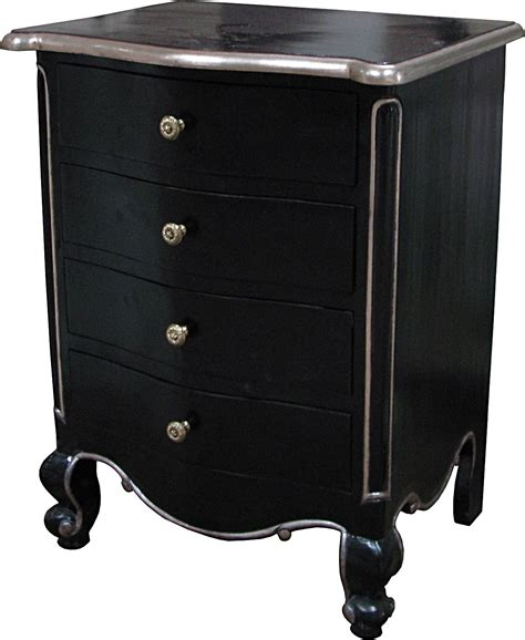 black and silver bedside ls louis four bedside in black and silver