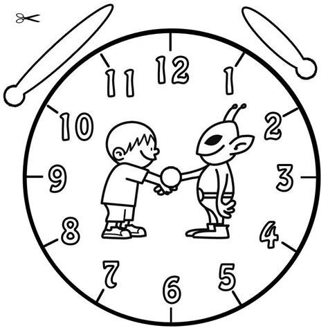 Kostenlose Vorlage Uhr Kostenlose Malvorlage Uhrzeit Lernen Ausmalbild Zum Ausmalen