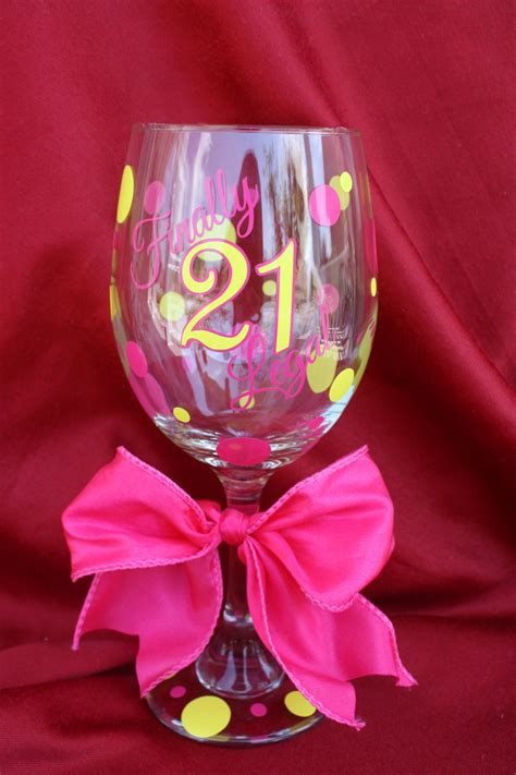 colour themes for 21st birthday 21st birthday wine glass 21st birthday gift ideas finally
