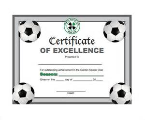 soccer certificate template soccer certificate template 7 free documents