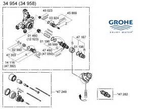 American Standard Bathtub Faucet Repair Grohe Mixer Valve 34954 000 Shower Spares And Parts