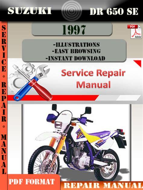 small engine repair manuals free download 1999 suzuki esteem engine control suzuki dr 650 se 1997 digital service repair manual download manu
