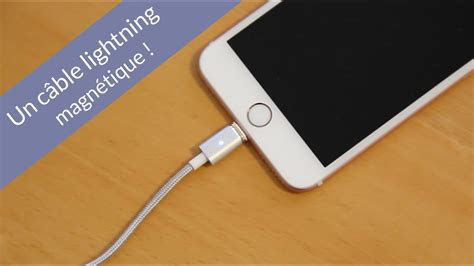test un c 226 ble lightning magn 233 tique type magsafe pour iphone