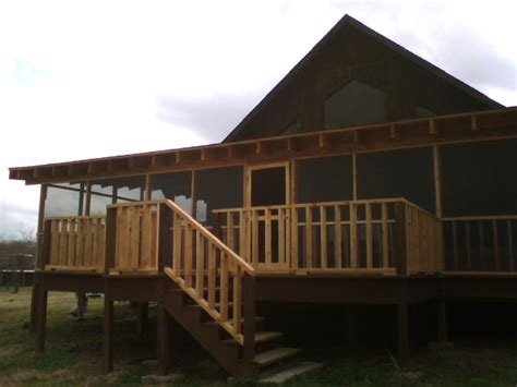 3c. Lake House Screened Porch   Fences & Decks by T Campbell