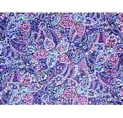 Blue Paisley Pattern Girly Purple Pink Cute Hd Wallpaper 1614695
