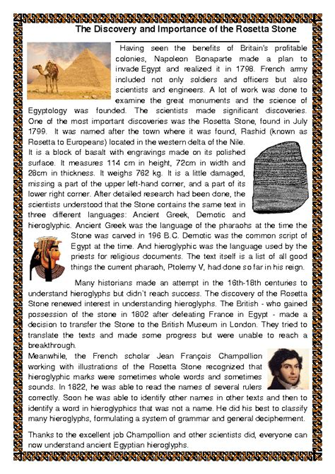 rosetta stone questions rossetta stone discovery and importance