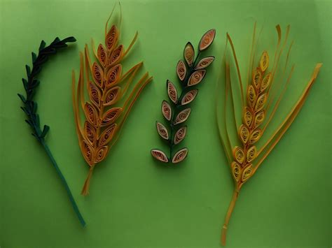 leaf pattern quilling how to make quilling wheat grain leaf stem using comb diy