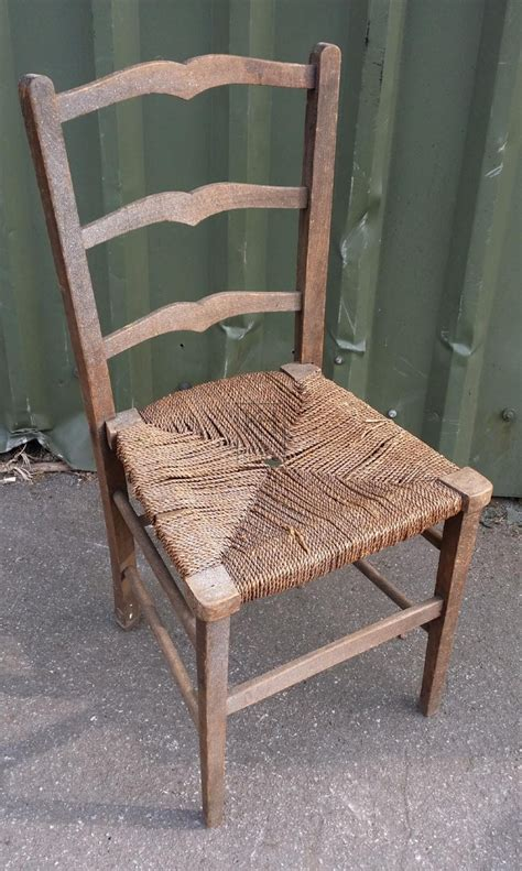 Straw Chair by Prop Hire 187 Chairs 187 Shaped Ladder Back Straw Seat Chair
